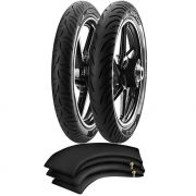 Kit Pneu Cg 125 Ybr 125 90/90-18 + 275-18 Super City Pirelli