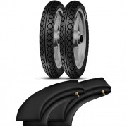 Kit Pneu Biz Pop 80/100-14 + 60/100-17 MT15 Pirelli