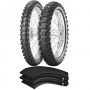 Kit Pneu Crf 250f 80/100-21 + 110/100-18 Scorpion Mx Extra X Pirelli
