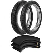 Kit Pneus C 100 Dream Gs 120 250-17 + 275-17 Pd29 Rinaldi + Camaras