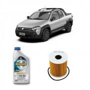 Kit Troca de Oleo + Filtro Strada Grand Siena 1.6 16v e 1.8 16v E-torq