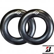 Par Câmaras De Ar 700-12 Aro 12 Bico Metal Tr75a Jff Homologado Bridgestone