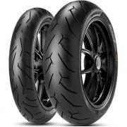 Par Pneu Cb 500 Yzf 600 170/60r17 + 120/60r17 Zr Tl Diablo Rosso II Pirelli