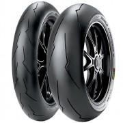 Par Pneu Cbr 600 RR F 800 R 120/70r17 + 180/55r17 Zr Tl Diablo Supercorsa V2 Pirelli