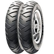 Par Pneu Honda Lead 110 Elite 125 90/90-12 + 100/90-10 Tl Sl26 Pirelli