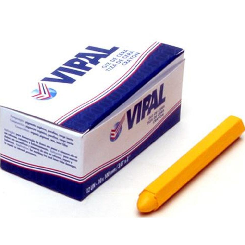 Caixa de Giz Amarelo Com 12 Unidades Vipal
