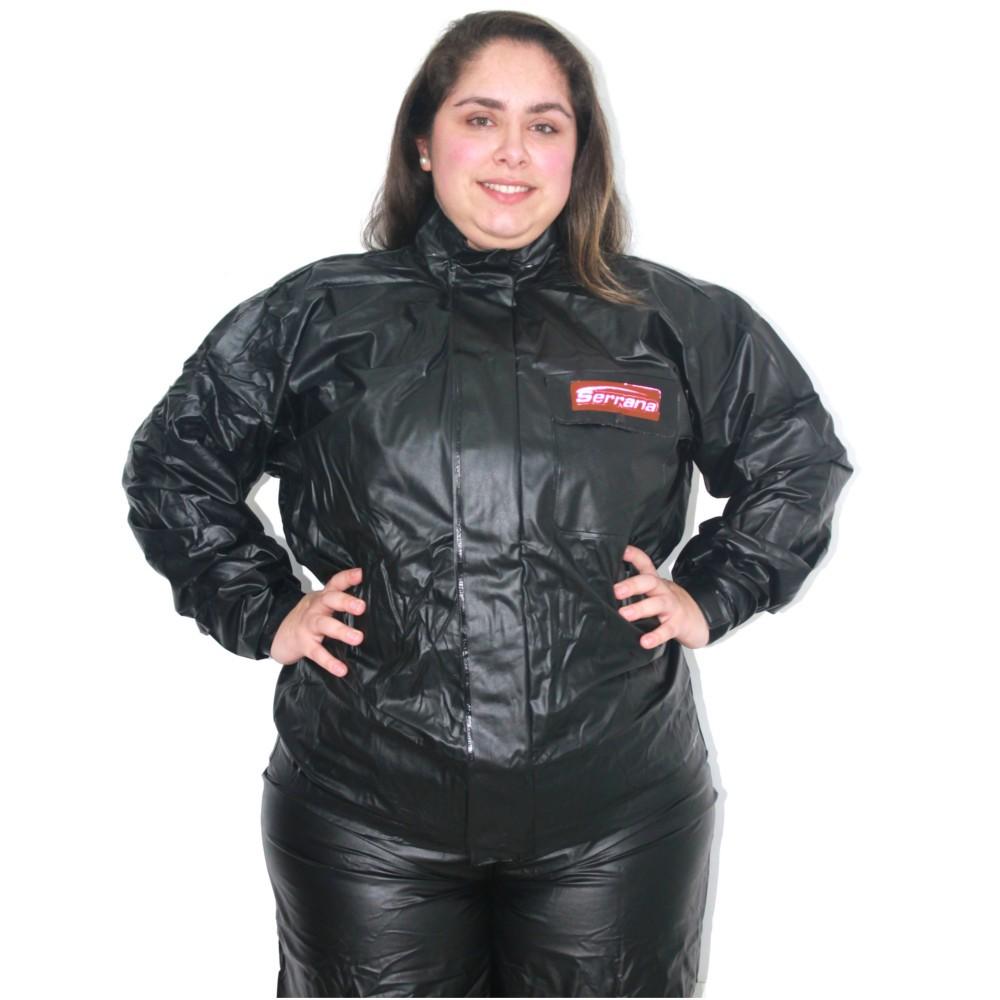 Capa de Chuva Motoqueiro Feminina Serrana Protercapas Tamanho EG