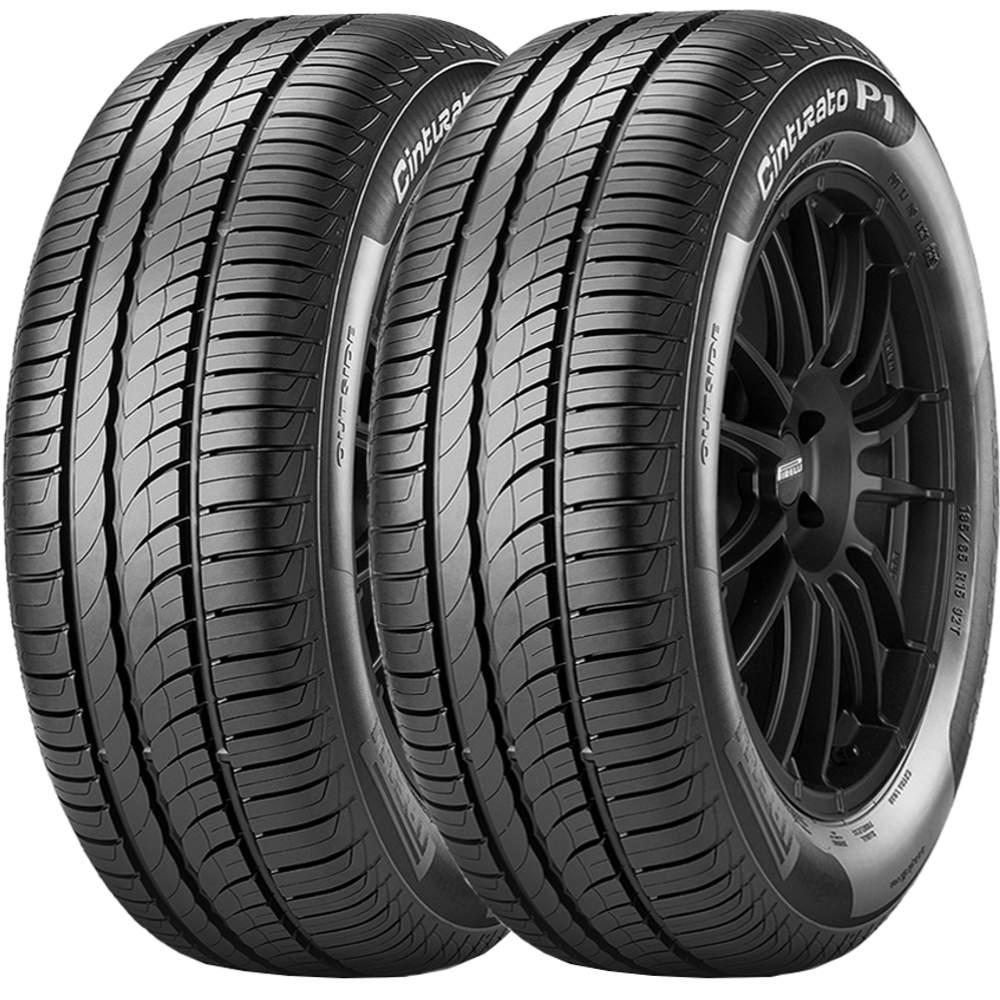 Combo 2 Pneus 195/65r15 Tubeless 91h P1 Cinturato Pirelli
