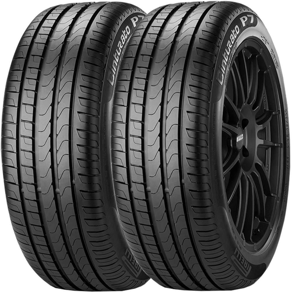 Combo 2 Pneus 205/55r17 91v Tubeless Cinturato P7 Pirelli