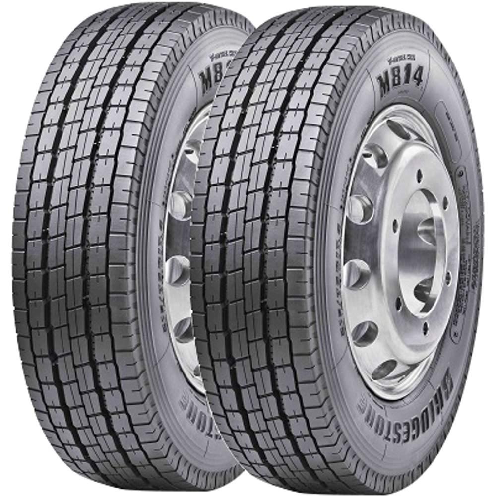 Combo 2 Pneus 215/75r17,5 126/124m M814 Bridgestone