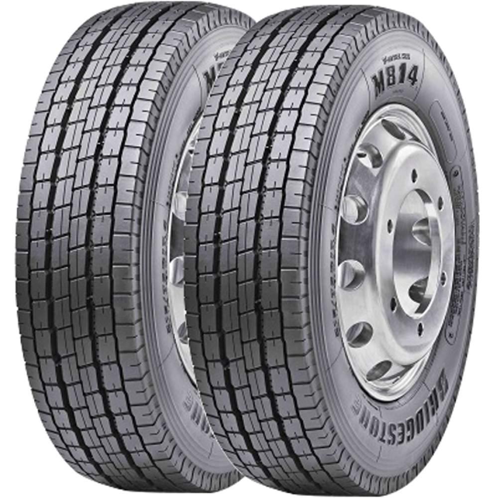 Combo 2 Pneus 235/75r17.5 132/130M Tubeless M814 Bridgestone