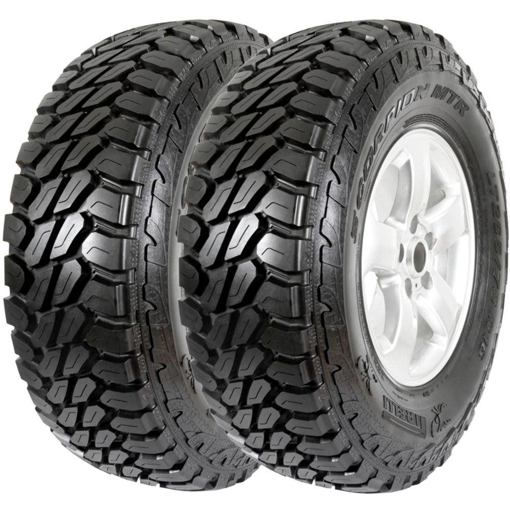 Combo 2 Pneus L200 Toyota Bandeirante Hilux 215/80r16 107q Scorpion Mtr Pirelli