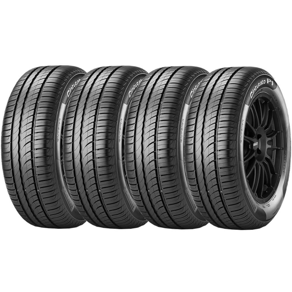 Combo 4 Pneus 185/70r14 88h Tubeless Cinturato P1 Pirelli