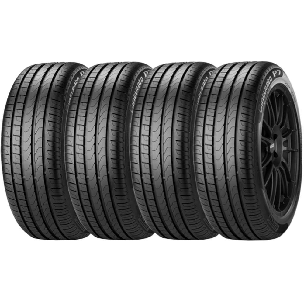 Combo 4 Pneus 195/55r15 Tubeless 85h P7 Cinturato Pirelli