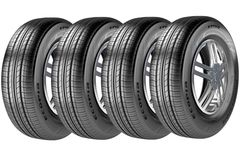 Combo 4 Pneus 195/60r15 88v Radial Tubeless Ecopia Ep150 Bridgestone