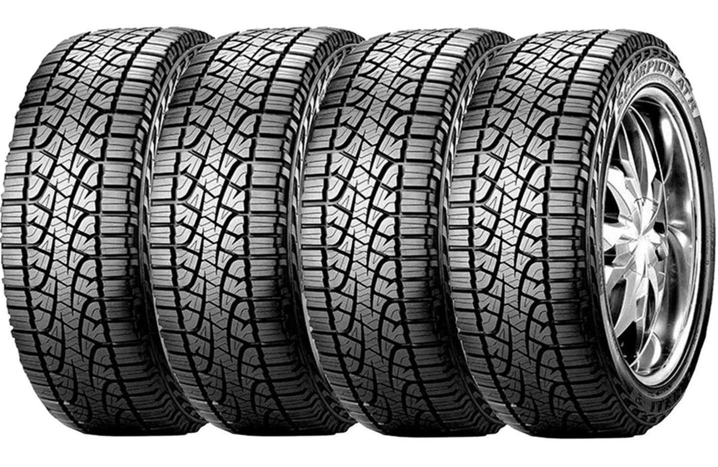 Combo 4 Pneus 225/65r17 106h Tubeless Xl Scorpion Atr Pirelli