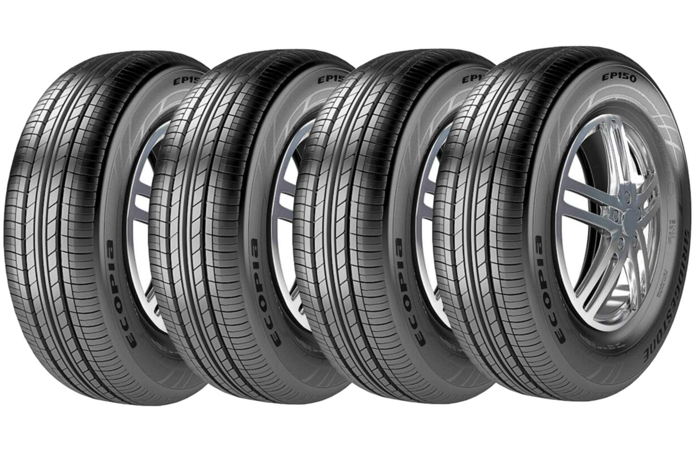 Combo 4 Pneus Hb20 Sandero S40 195/60r16 89h Tl Ecopia Ep150 Bridgestone