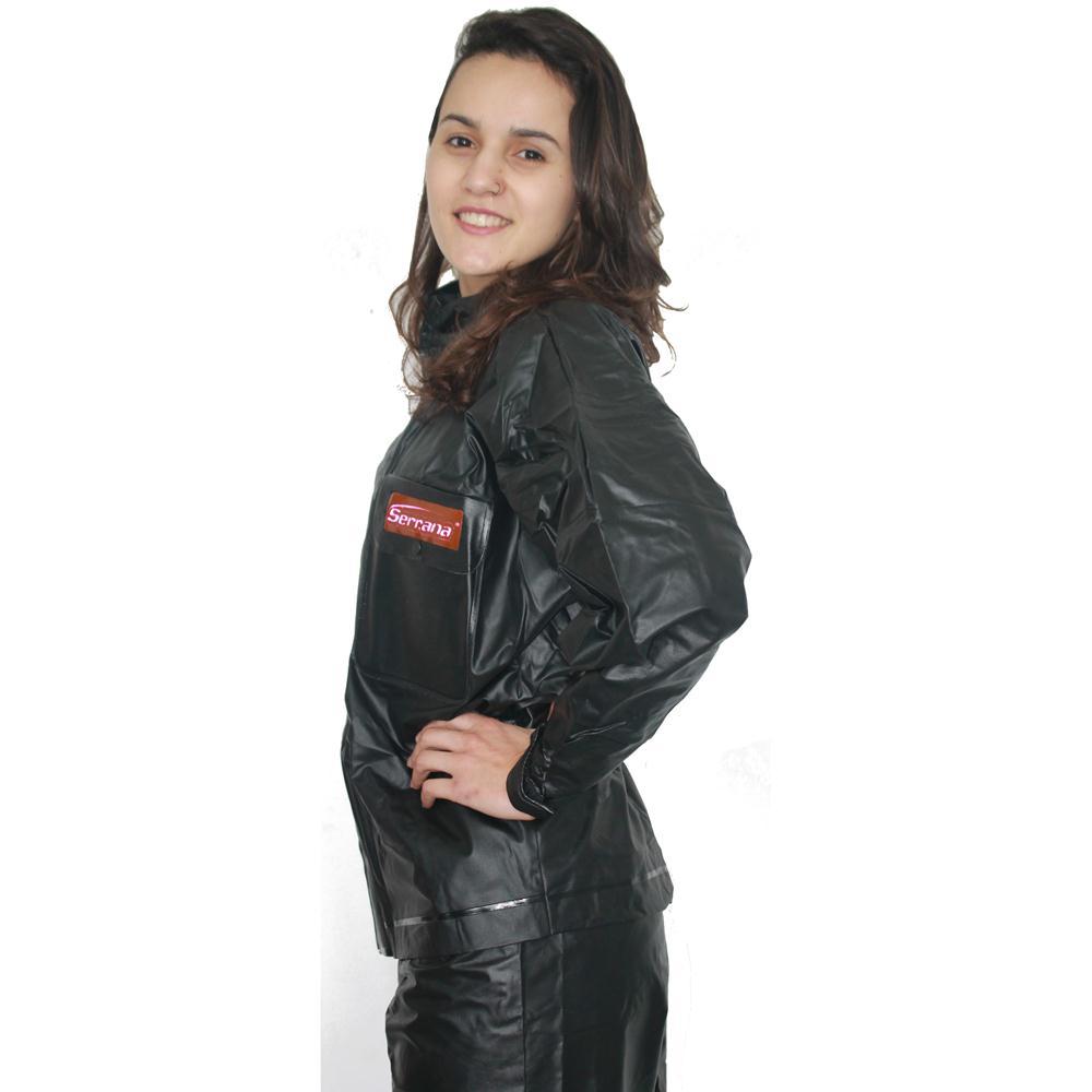 Kit Capa de Chuva Motoqueiro Fem Protercapas Serrana P + Sobre Bota Tamanho P
