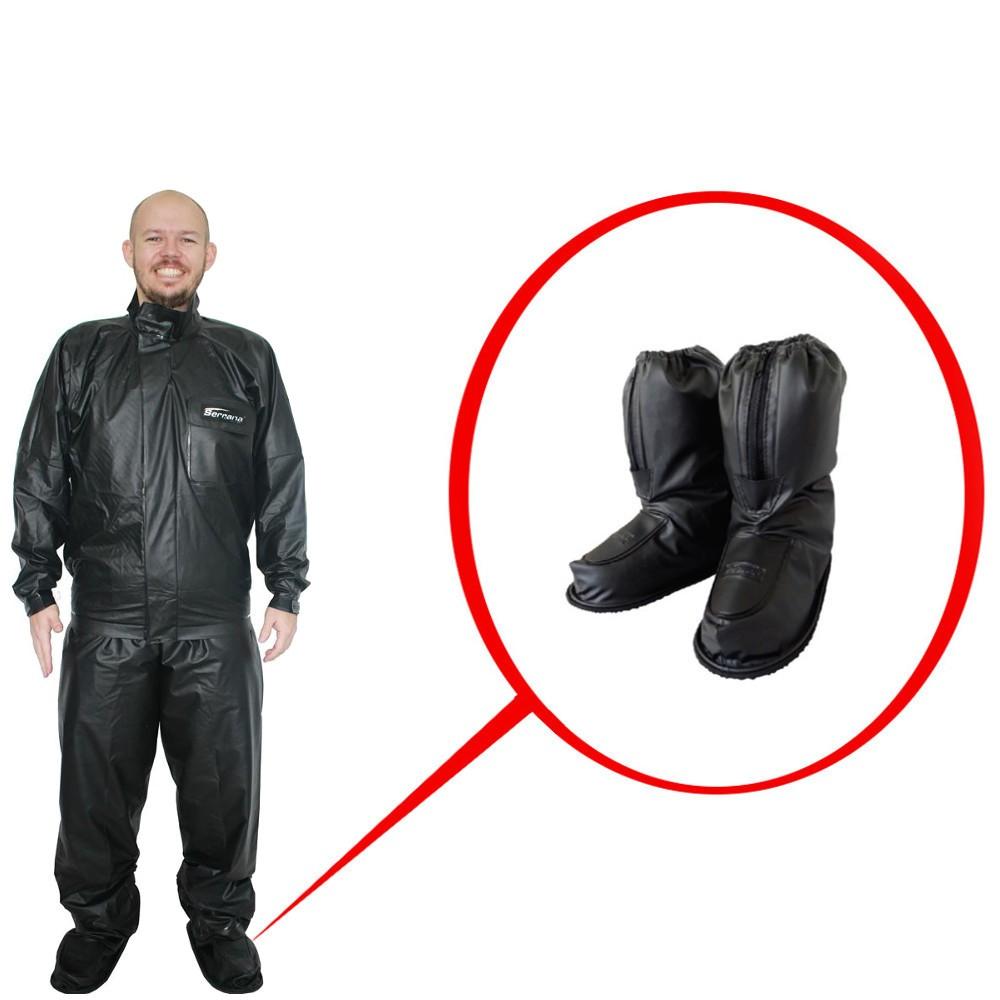 Kit Capa de Chuva Motoqueiro Masc Serrana Protercapas EG + Sobre Bota tamanho GG