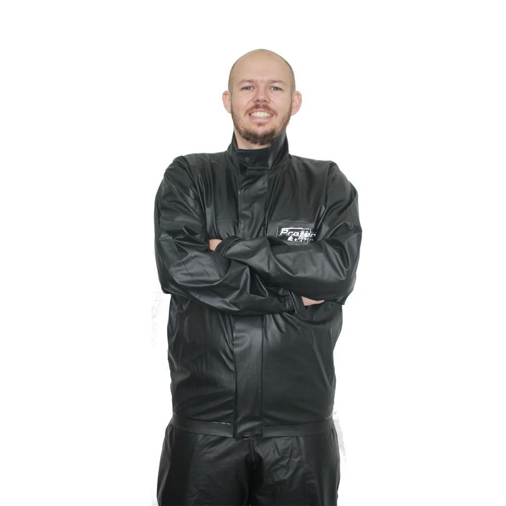 Kit Capa De Chuva Motoqueiro Masculina Protercapas Tam Eg + Sobre Bota Tamanho Gg