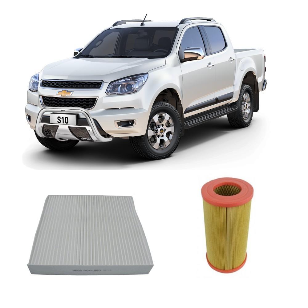 Kit Filtro Ar Condicionado + Filtro Ar Motor S10 Trailblazer