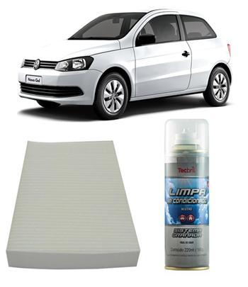 Kit Filtro Ar Condicionado + Higienizador Gol G6 Fox