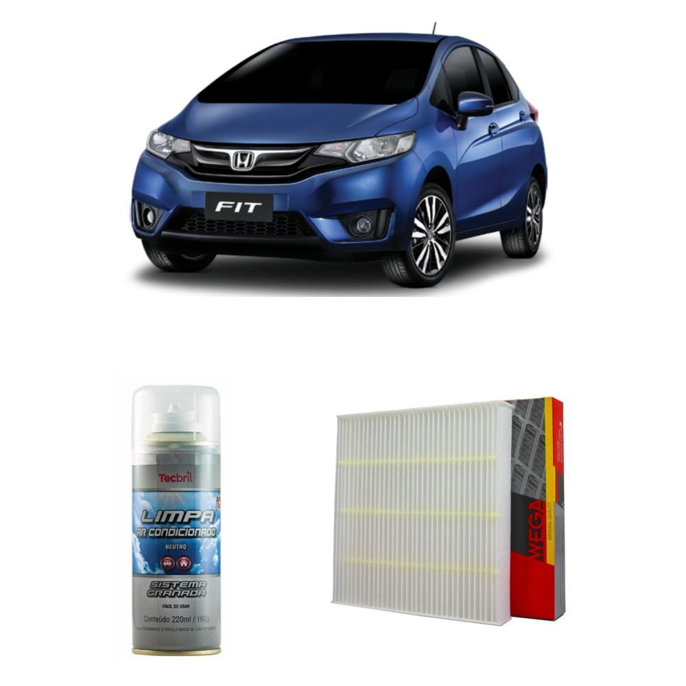 Kit Filtro Ar Condicionado + Higienizador Honda New Fit