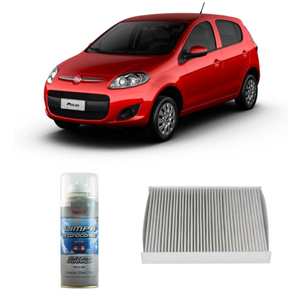Kit Filtro Ar Condicionado + Higienizador Novo Uno Grand Siena