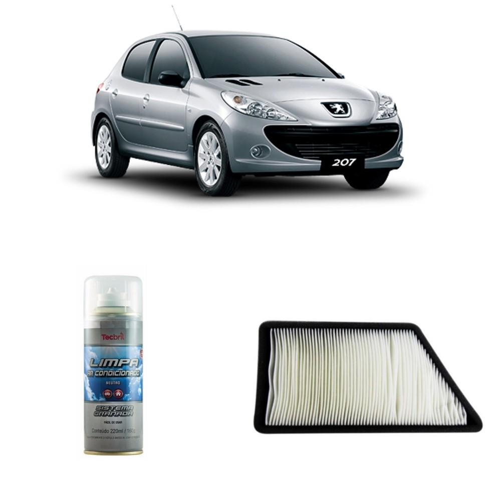 Kit Filtro Ar Condicionado + Higienizador Peugeot 206 207