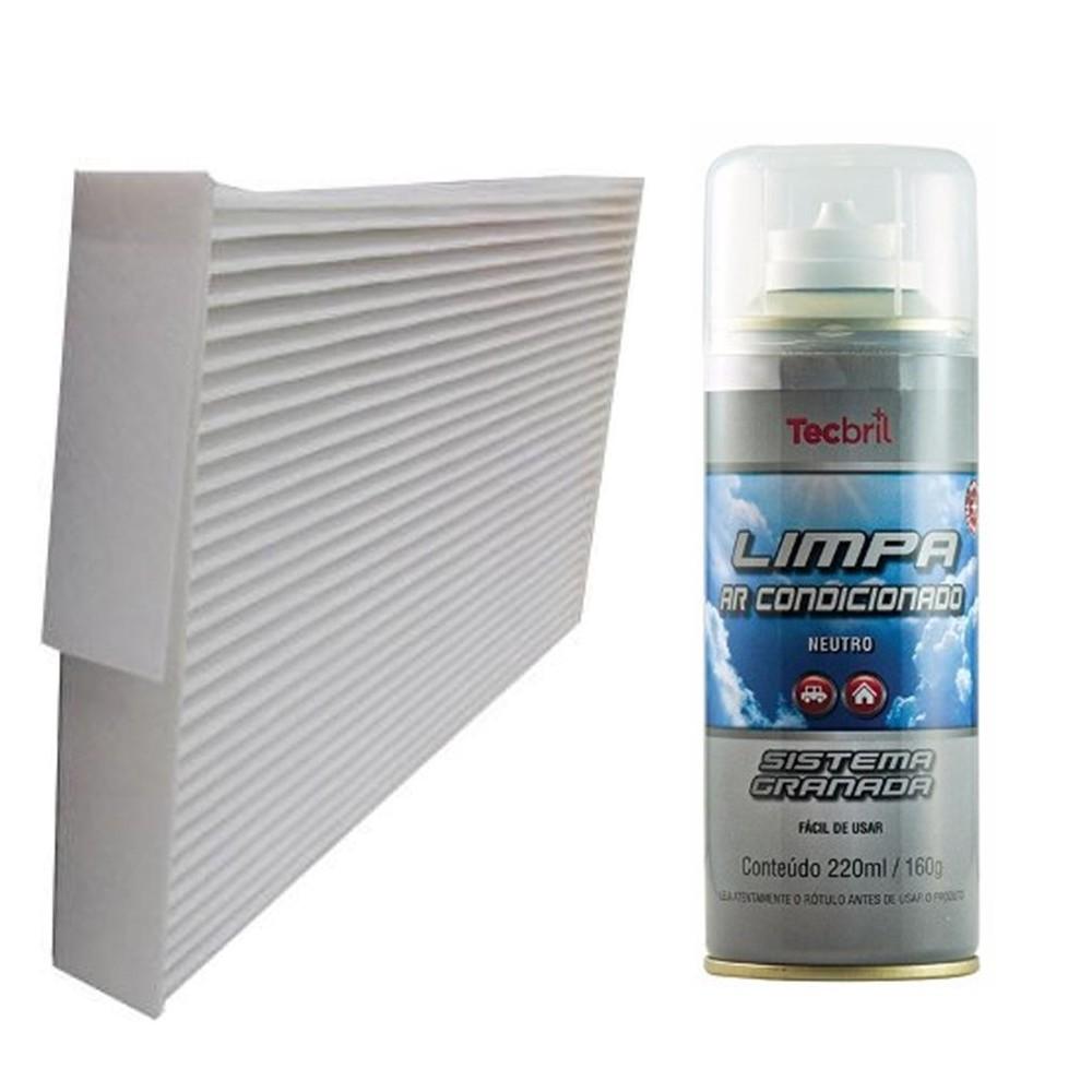 Kit Filtro Ar Condicionado + Higienizador Sentra 2.0 16v Flex 2014 Em Diante