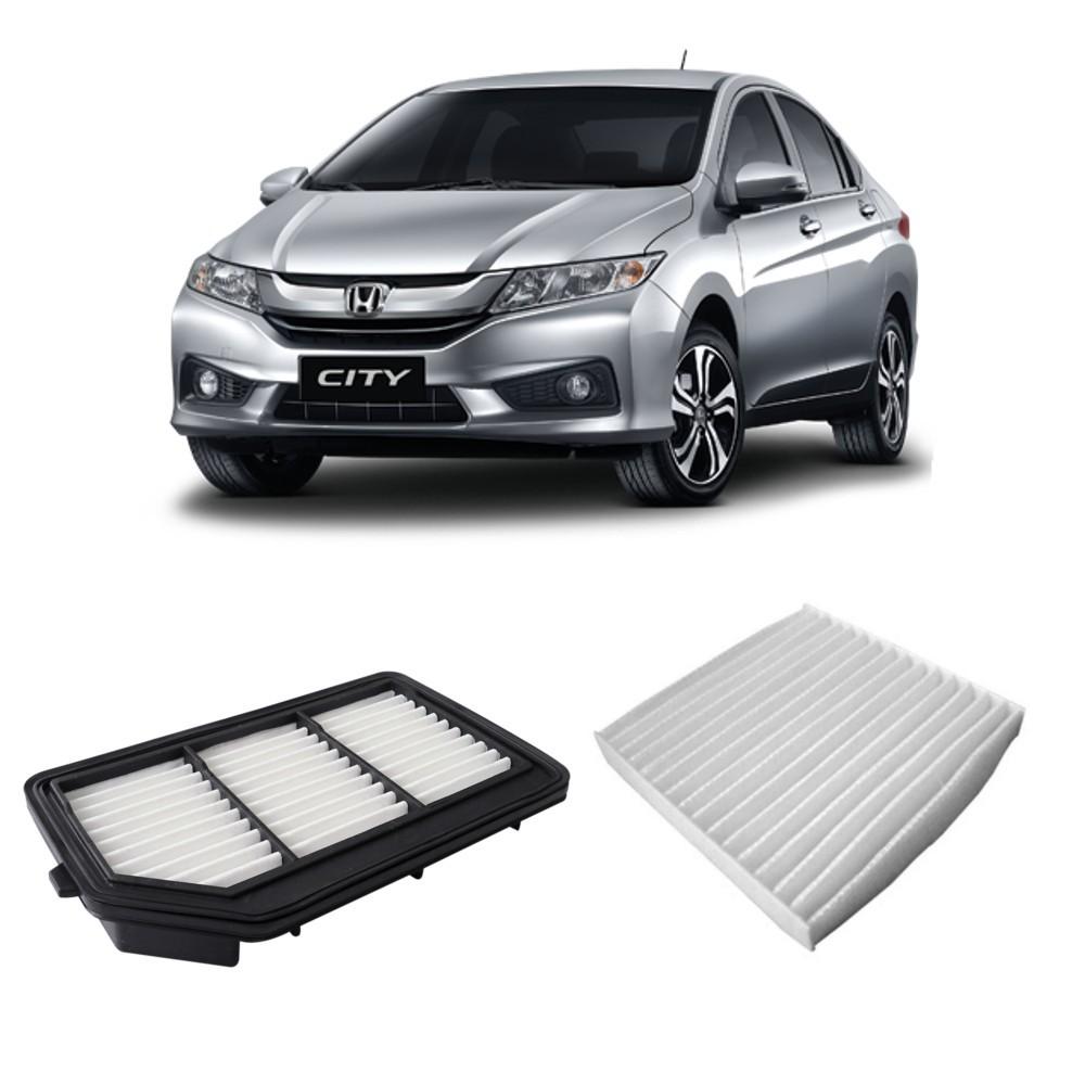 Kit Filtro Ar Motor + Filtro Ar Condicionado Honda City 2014 Em diante
