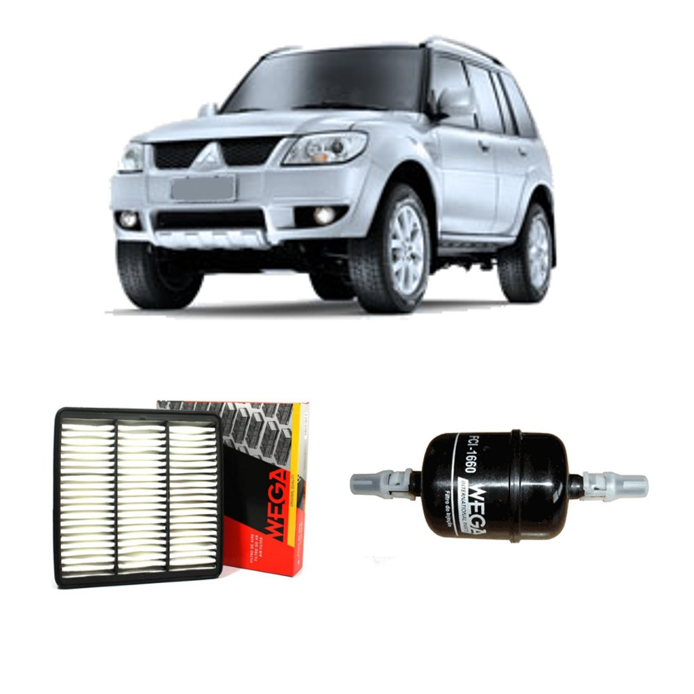 Kit Filtro Ar Motor + Filtro Combustivel Pajero Tr4 Flex