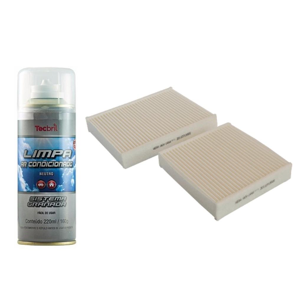 Kit Filtro De Ar Condicionado + Higienizador Ds3 2012 Em Diante