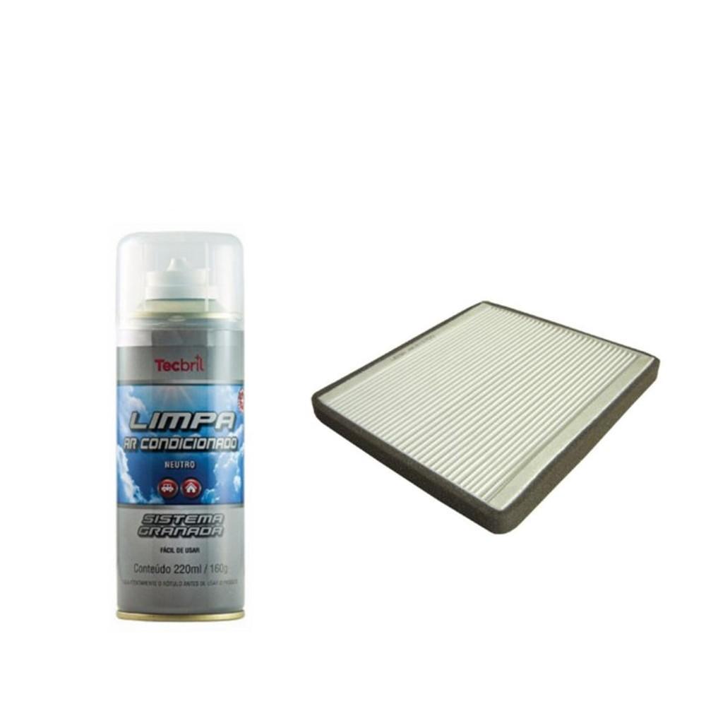 Kit Filtro De Ar Condicionado + Higienizador Tiggo 2.0 16v Flex 2009 Em Diante