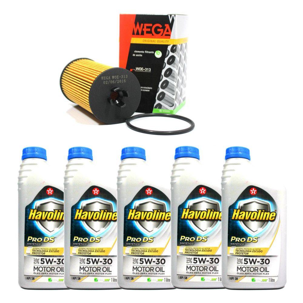 Kit Filtro De Oleo + Oleo 5w30 Sintetico Havoline Cruze Sonic Tracker