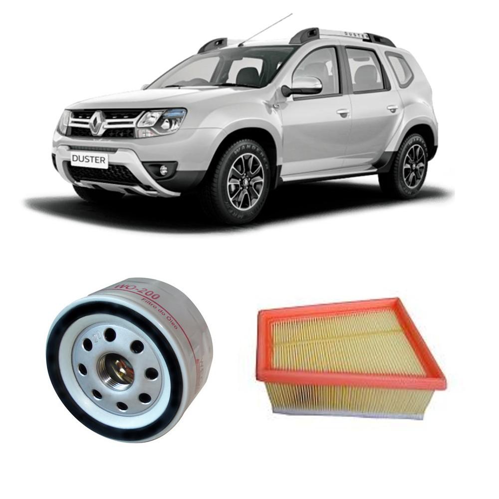 Kit Filtros Ar Motor + Filtro De Oleo Renault Duster 1.6