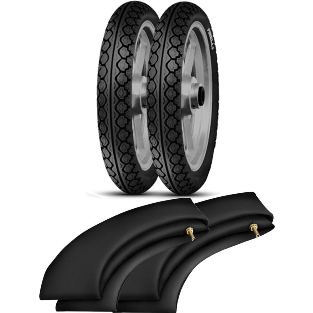 Kit Pneu Biz Pop 80/100-14 + 60/100-17 MT15 Pirelli