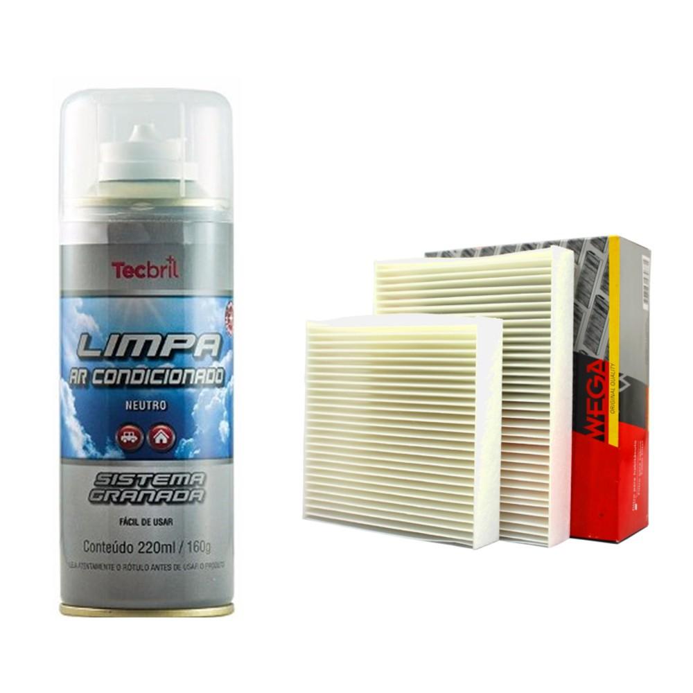 Kit Troca De Filtro De Ar Condicionado + Higienizador C3 1.5 2012 1.2 2016
