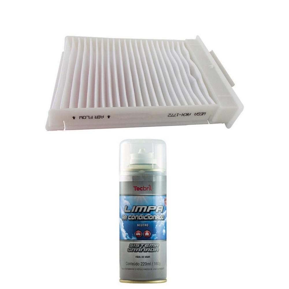 Kit Troca De Filtro De Ar Condicionado + Higienizador Jac J2 1.4