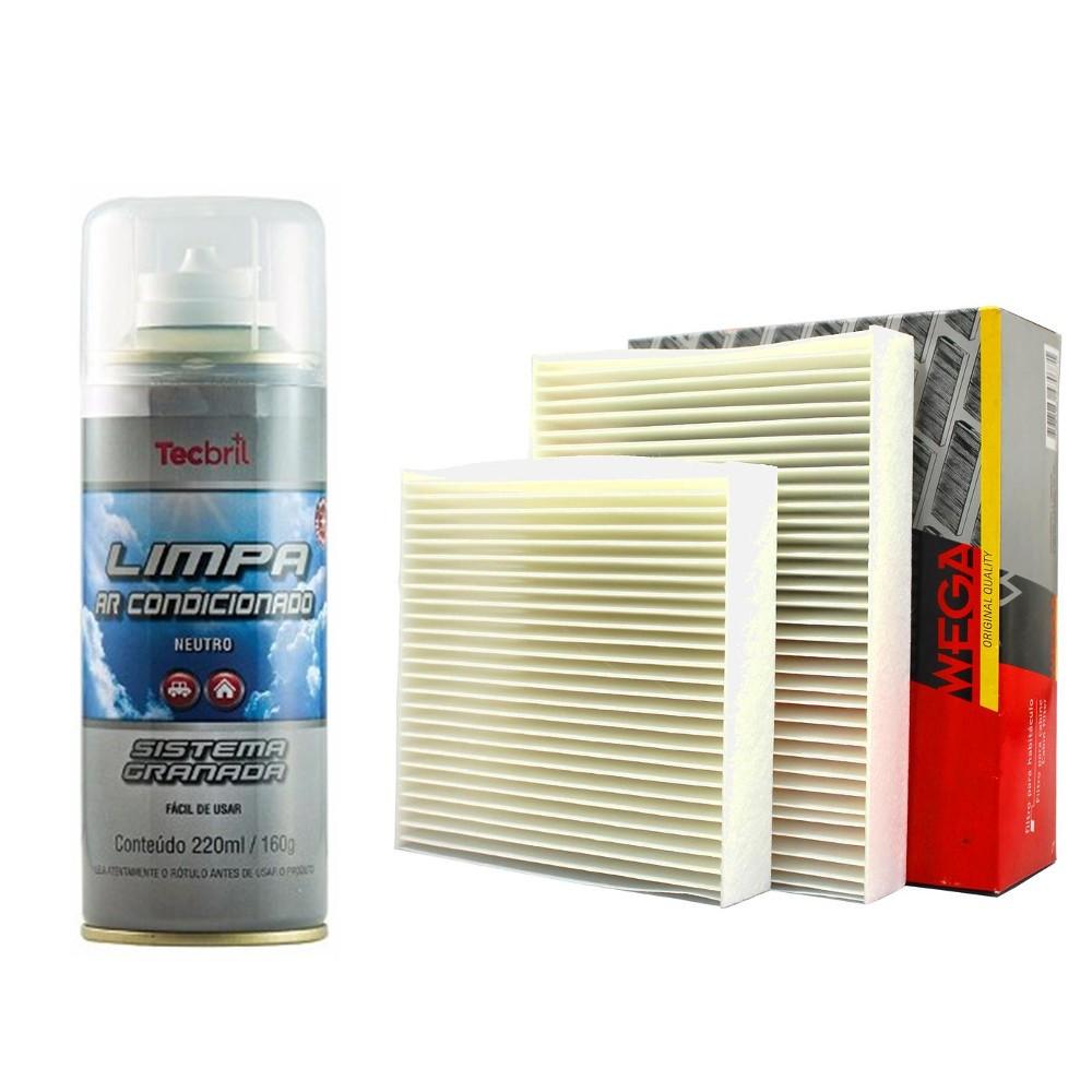 Kit Troca De Filtros Ar Condicionado + Higienizador 2008 1.6 16v 2015 208 1.5 1.6 Flex 2013 Em Diante