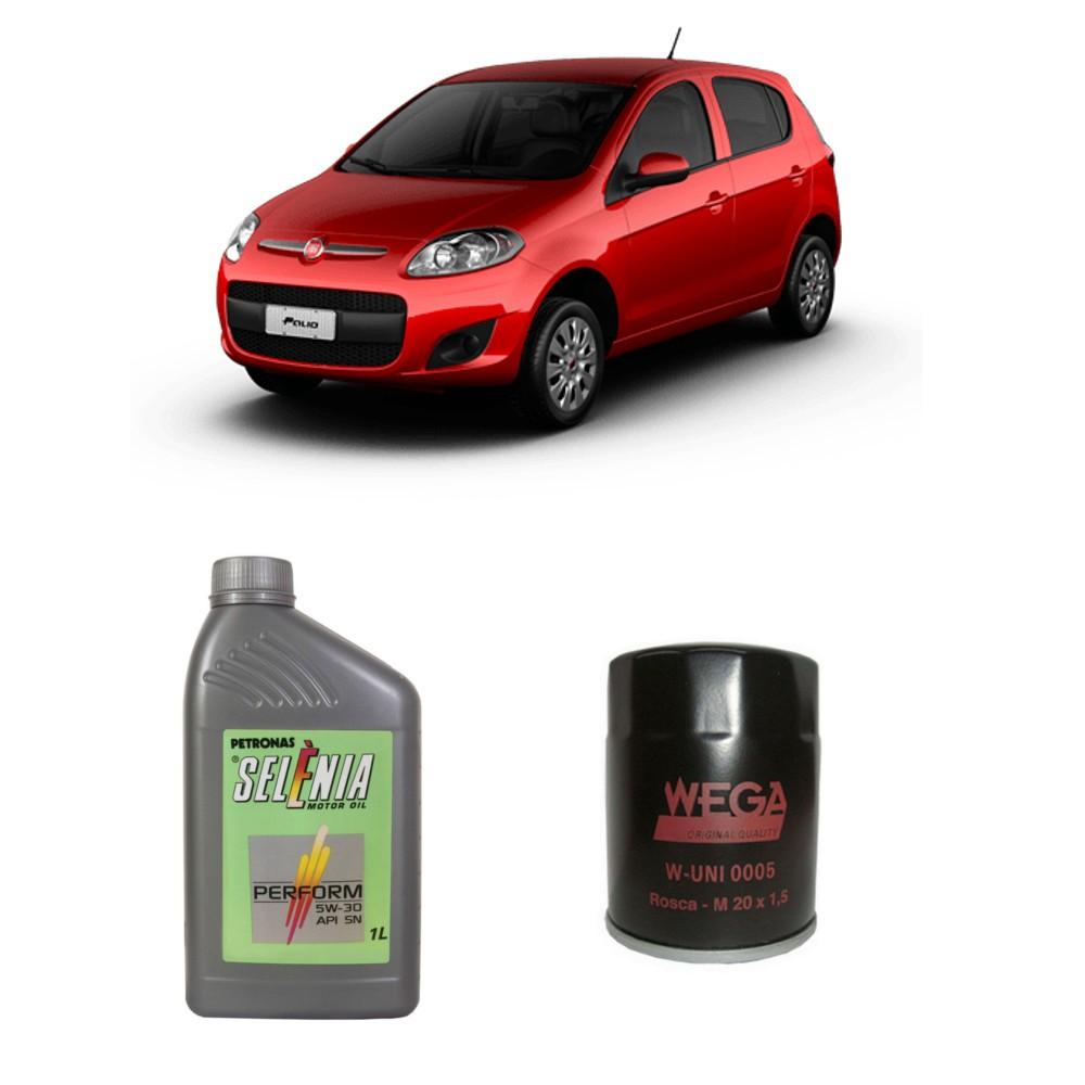 Kit Troca de Oleo + Filtro Uno Palio Strada Siena Fire 1.0 e 1.4 Todos