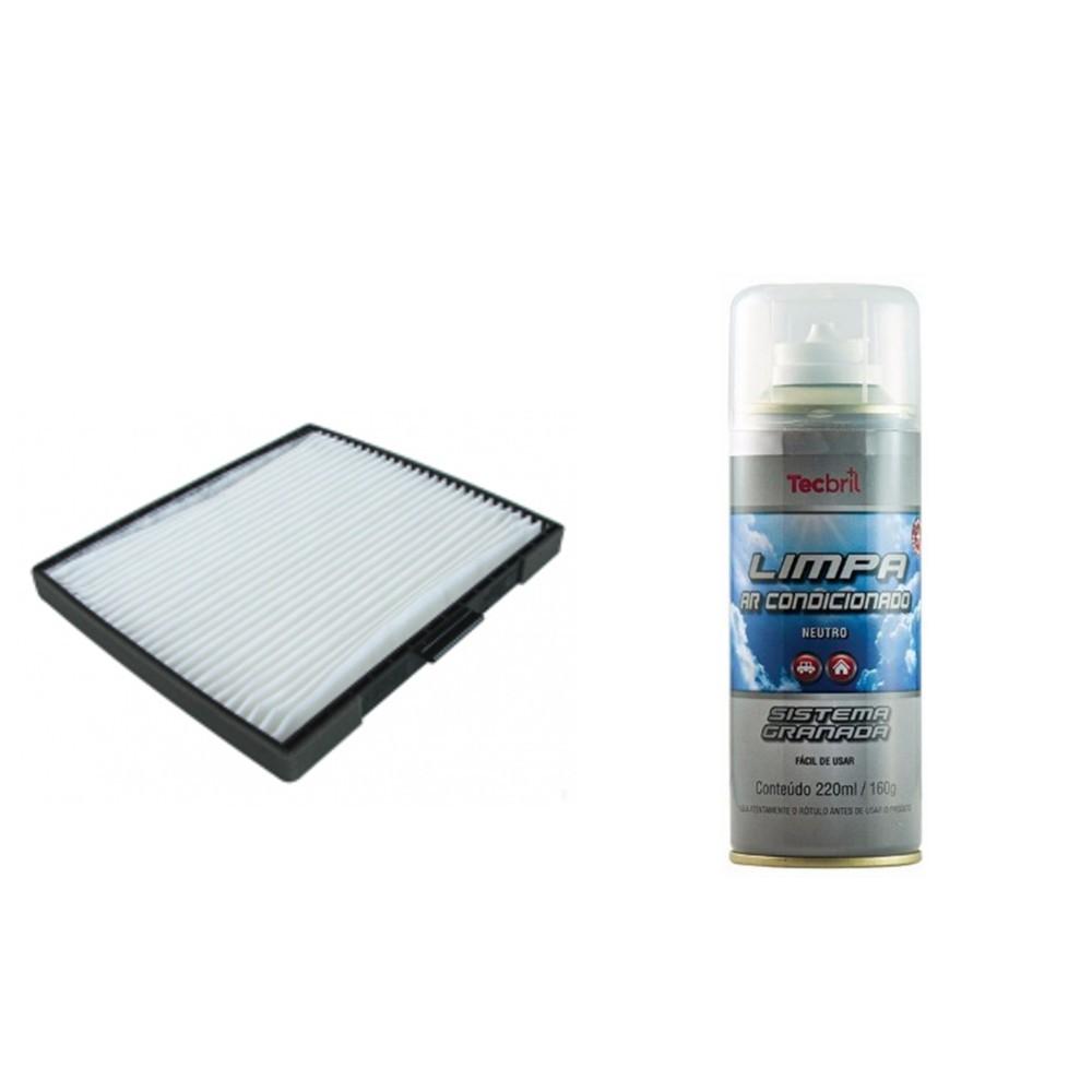Kit Troca Filtro Ar Condicionado + Higienizador Jac J5 1.5 16v 2012 Em diante