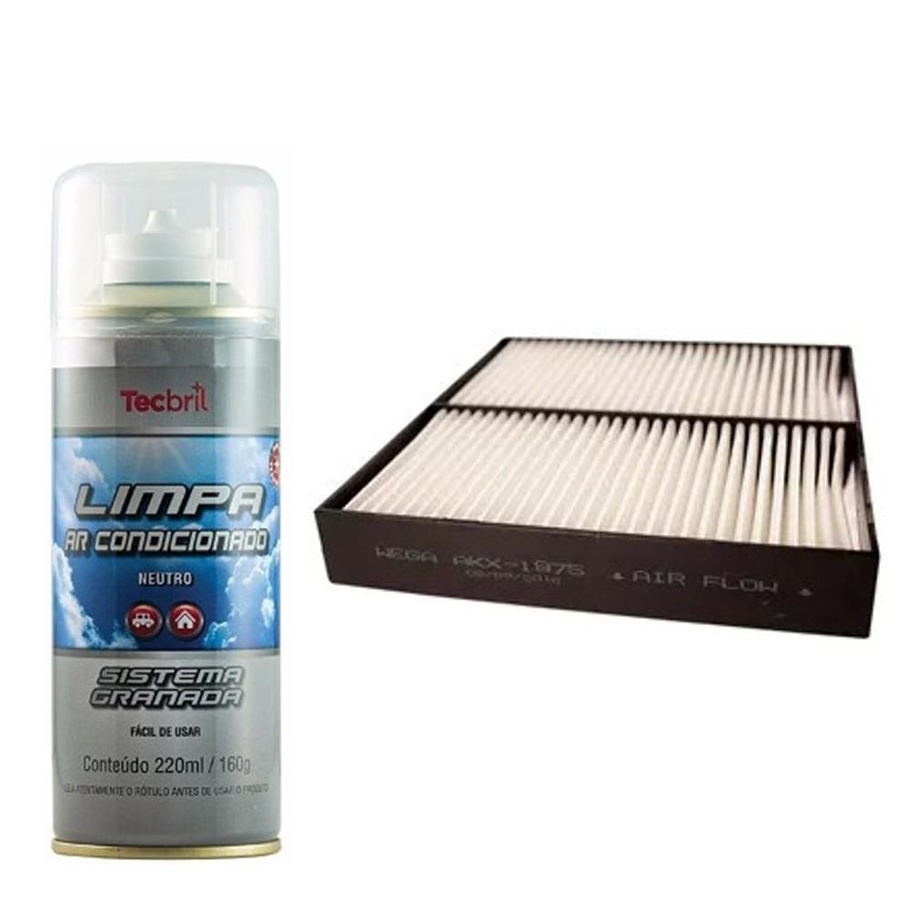 Kit Troca Filtro Ar Condicionado + Higienizador S-cross 1.6 16v 2015 Em Diante