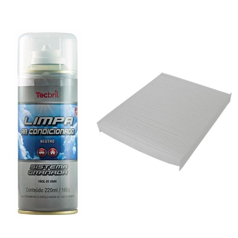 Kit Troca Filtro Ar Condicionado + Higienizador Santa Fé 2012 Em Diante