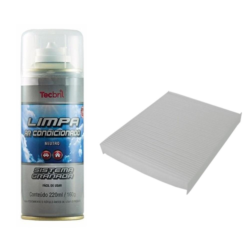 Kit Troca Filtro Ar Condicionado + Higienizador Santa Fé