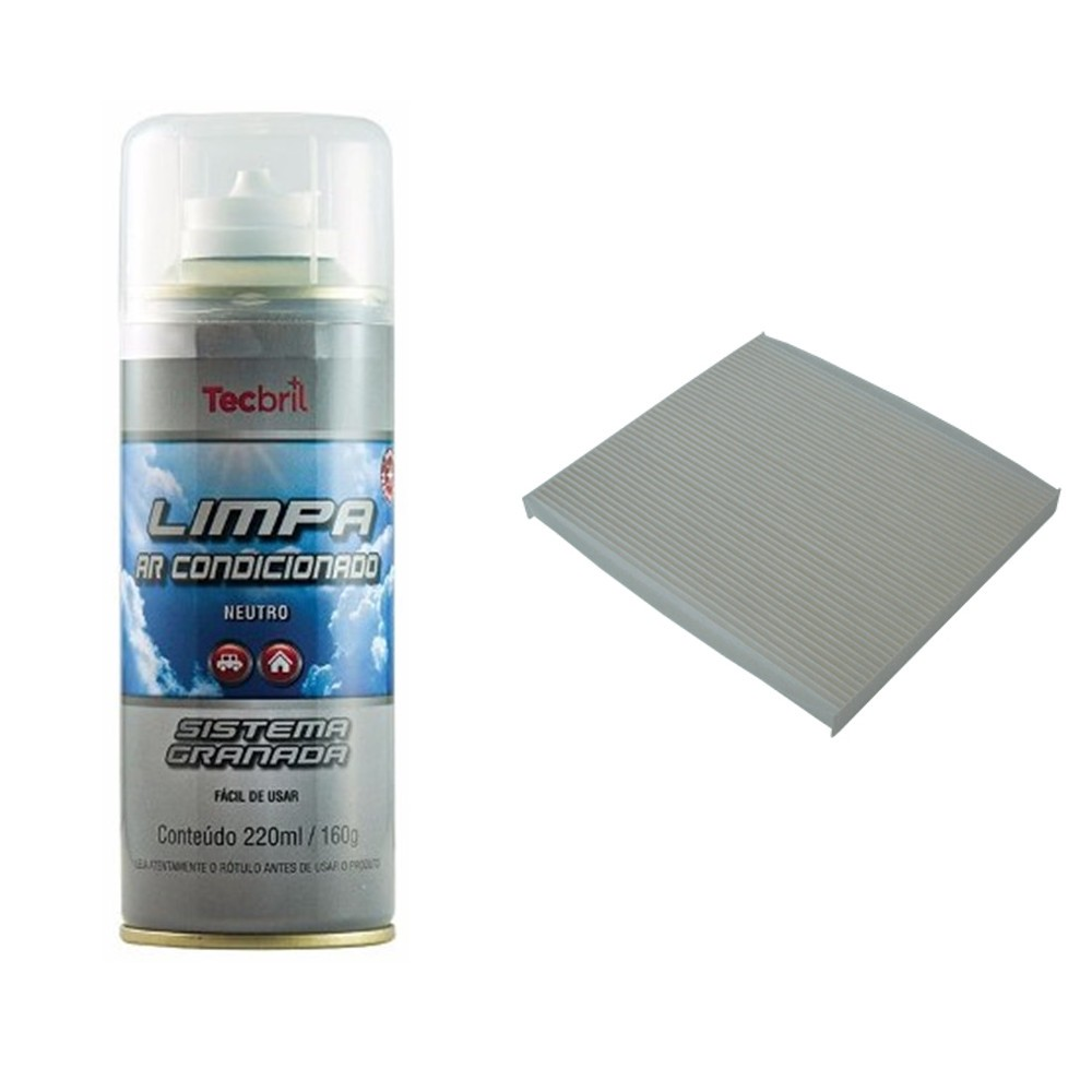 Kit Troca Filtro Ar Condicionado + Higienizador Sonata 2.4 16v 2010 Em Diante