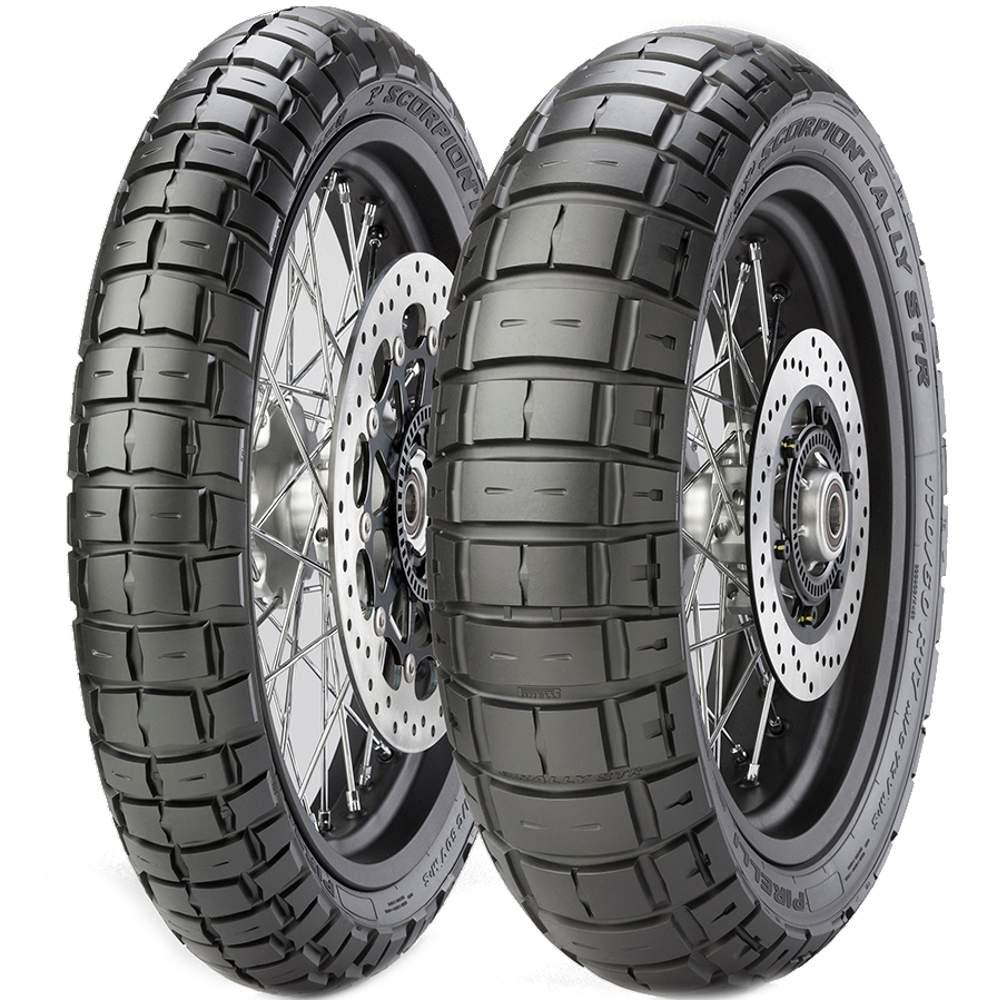 Par Pneu Bmw 650 Gs Versys-X 300 140/80r17 + 110/80r19 Scorpion Rally STR Pirelli