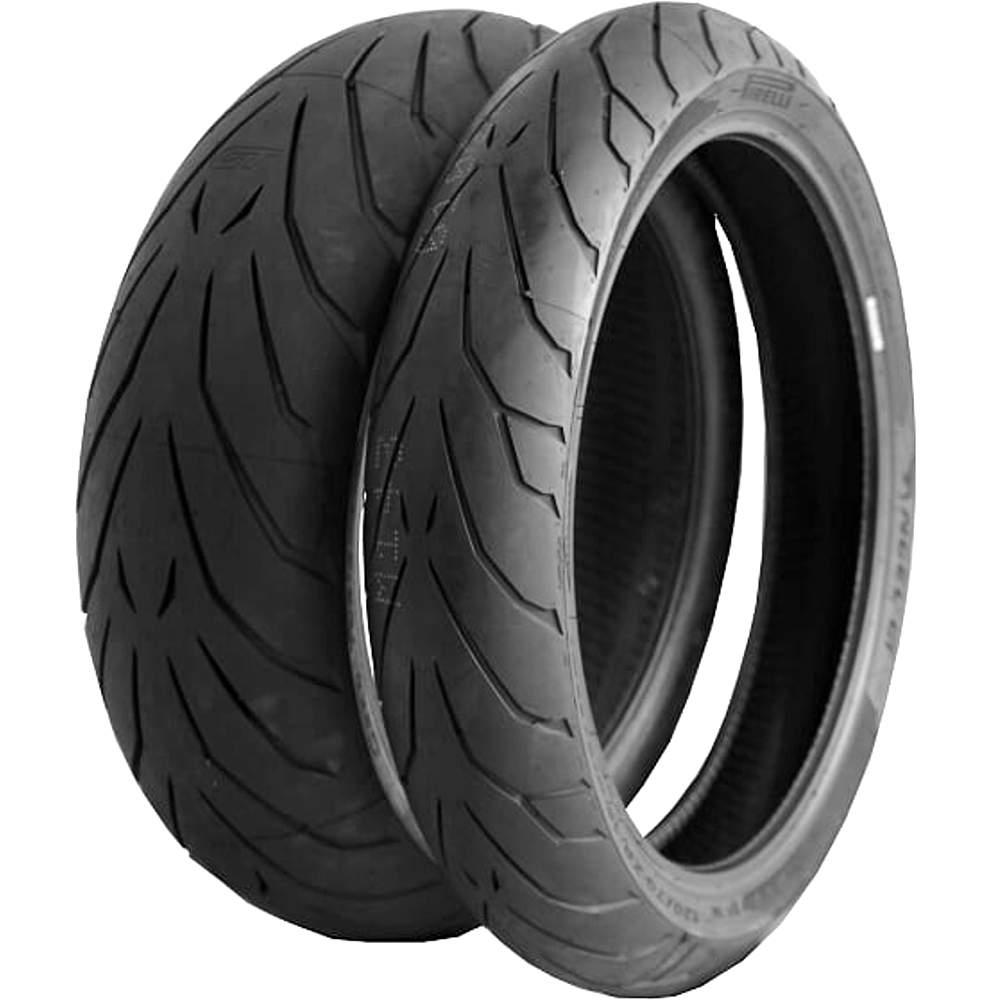 Par Pneu Bmw R 850 Rt Se 120/70r17 + 160/60r18 Zr Tl Angel GT Pirelli