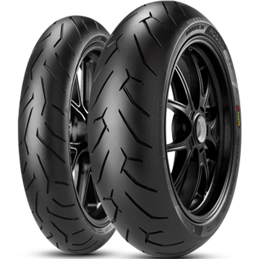 Par Pneu Cb300 150/60r17 + 120/70r17 Diablo Rosso II Pirelli