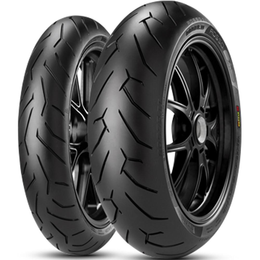 Par Pneu Cb 300 150/60r17 + 110/70r17 Diablo Rosso II Pirelli